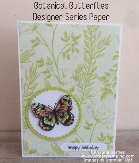 Botanical Butterflies Card
