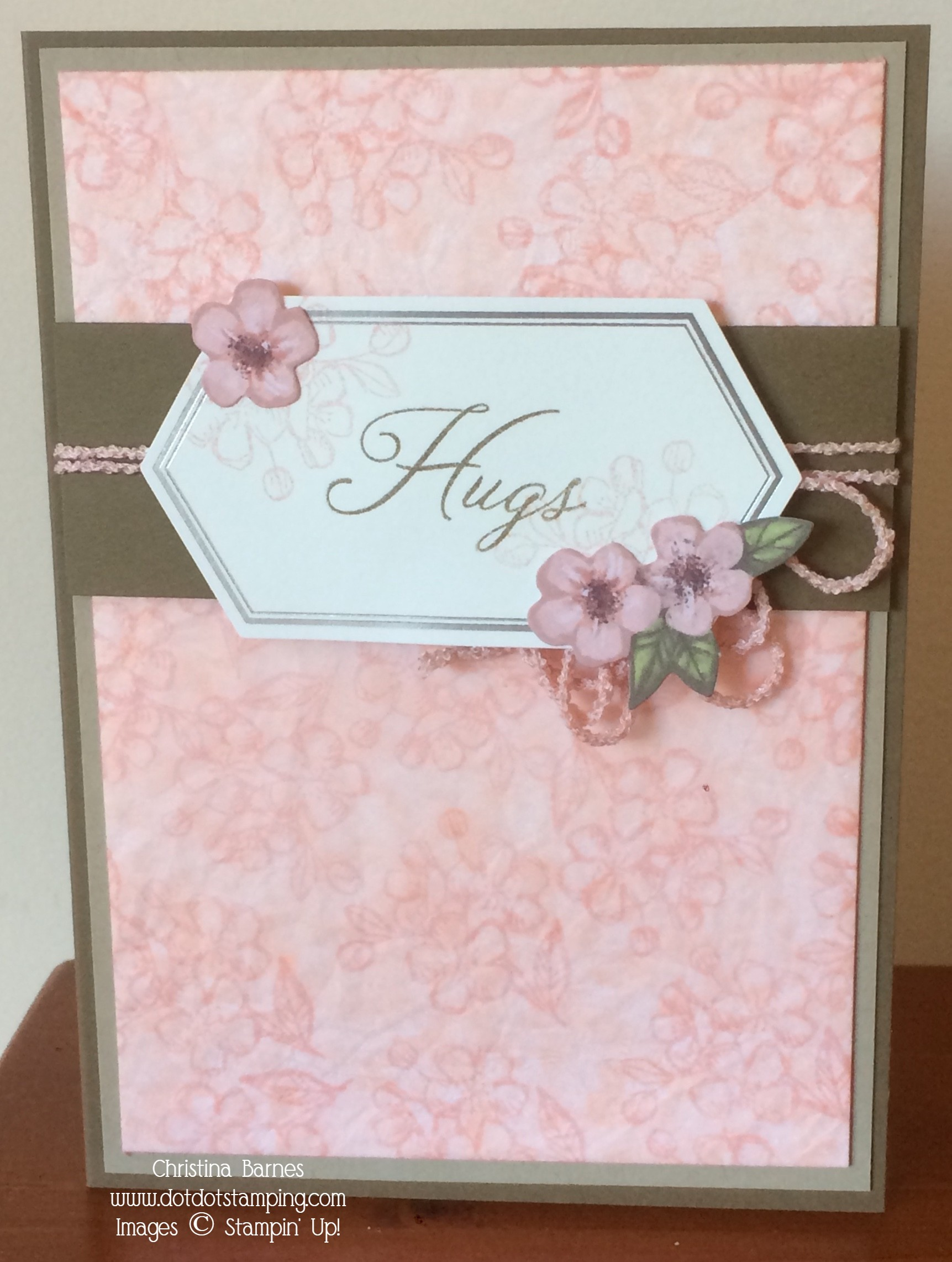 Hugs and Tissue Paper Card