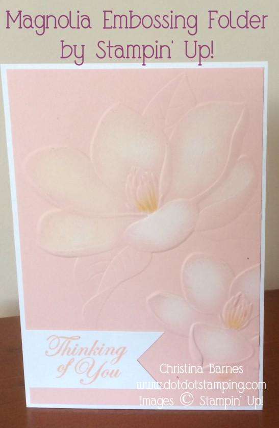 Pink Embossed Magnolia