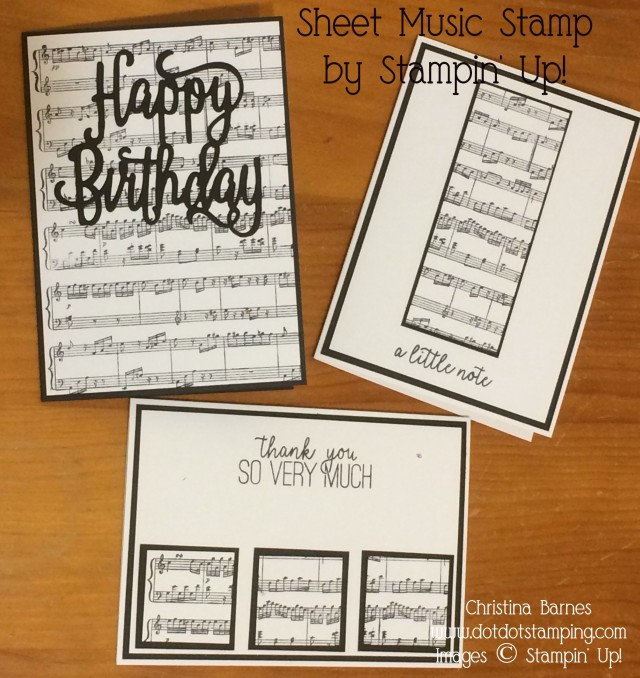 Sheet Music Card Set