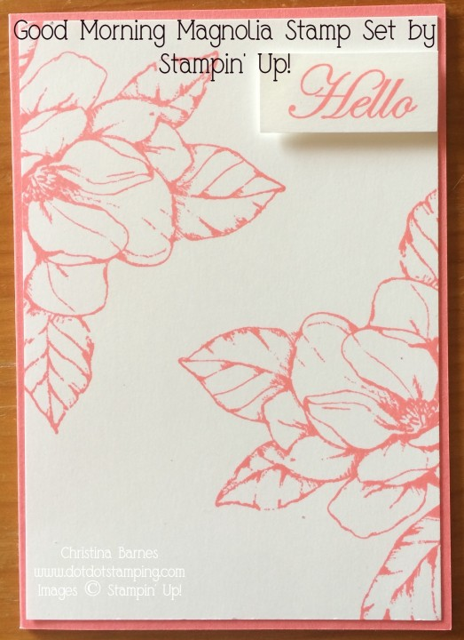 Simple Magnolia Card