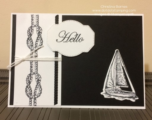 Black and White Sailing Card