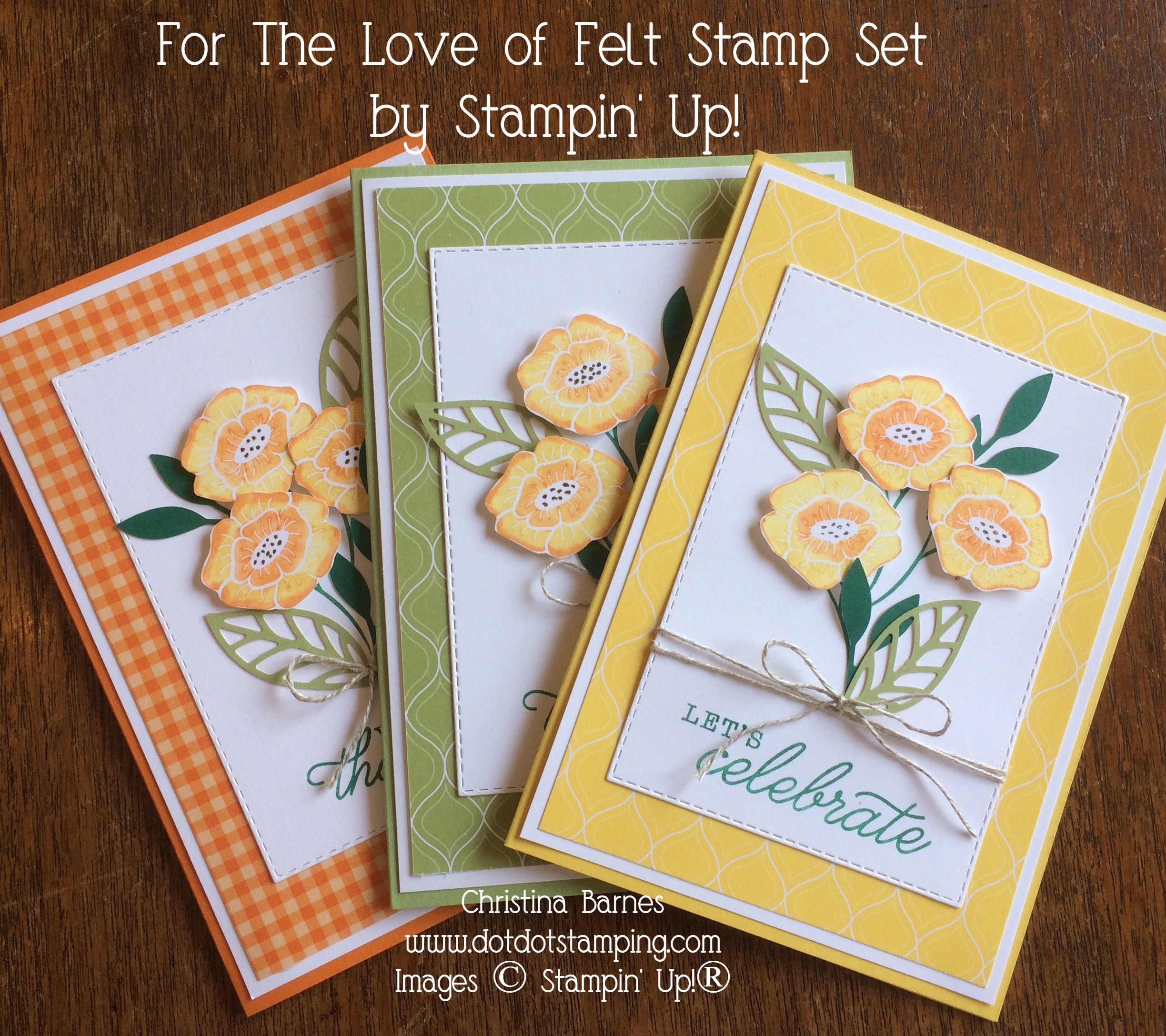 For The Love of Felt Card Set