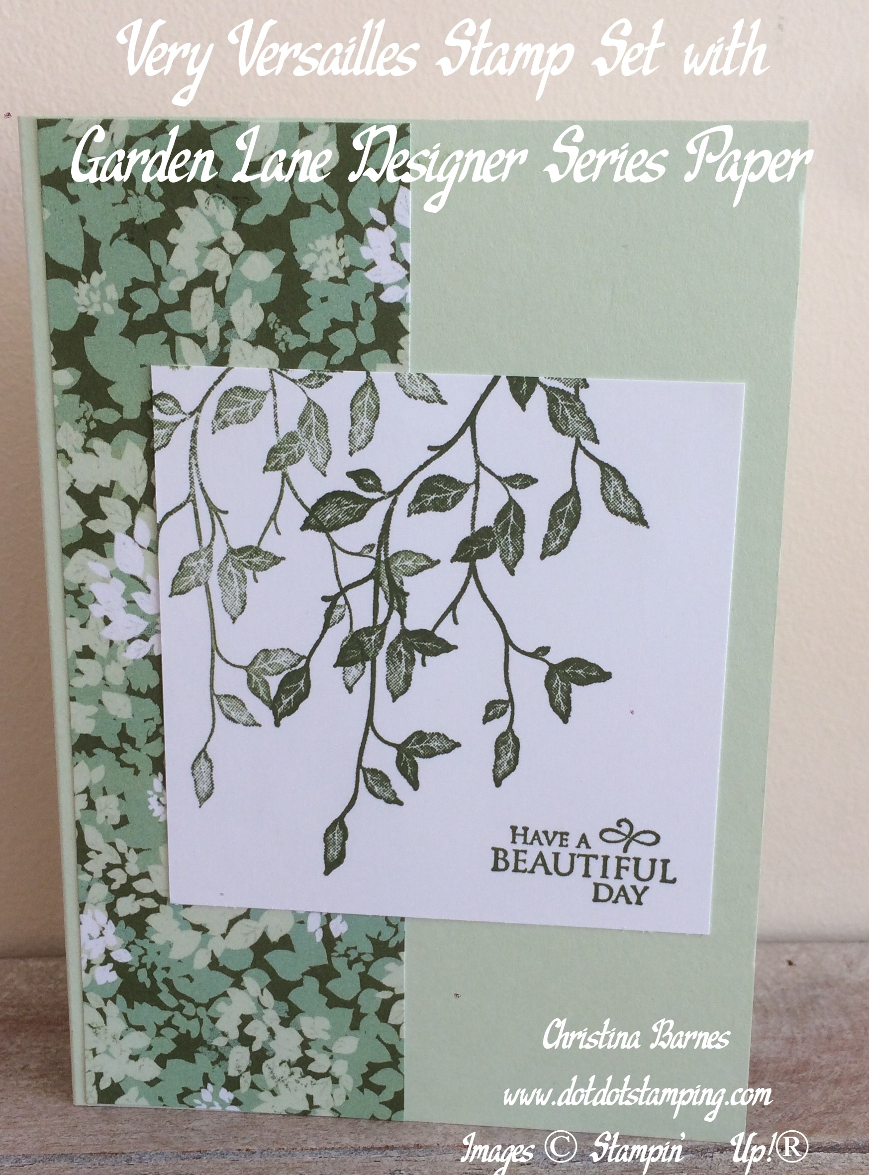 Green Very Versailles Garden Lane Card