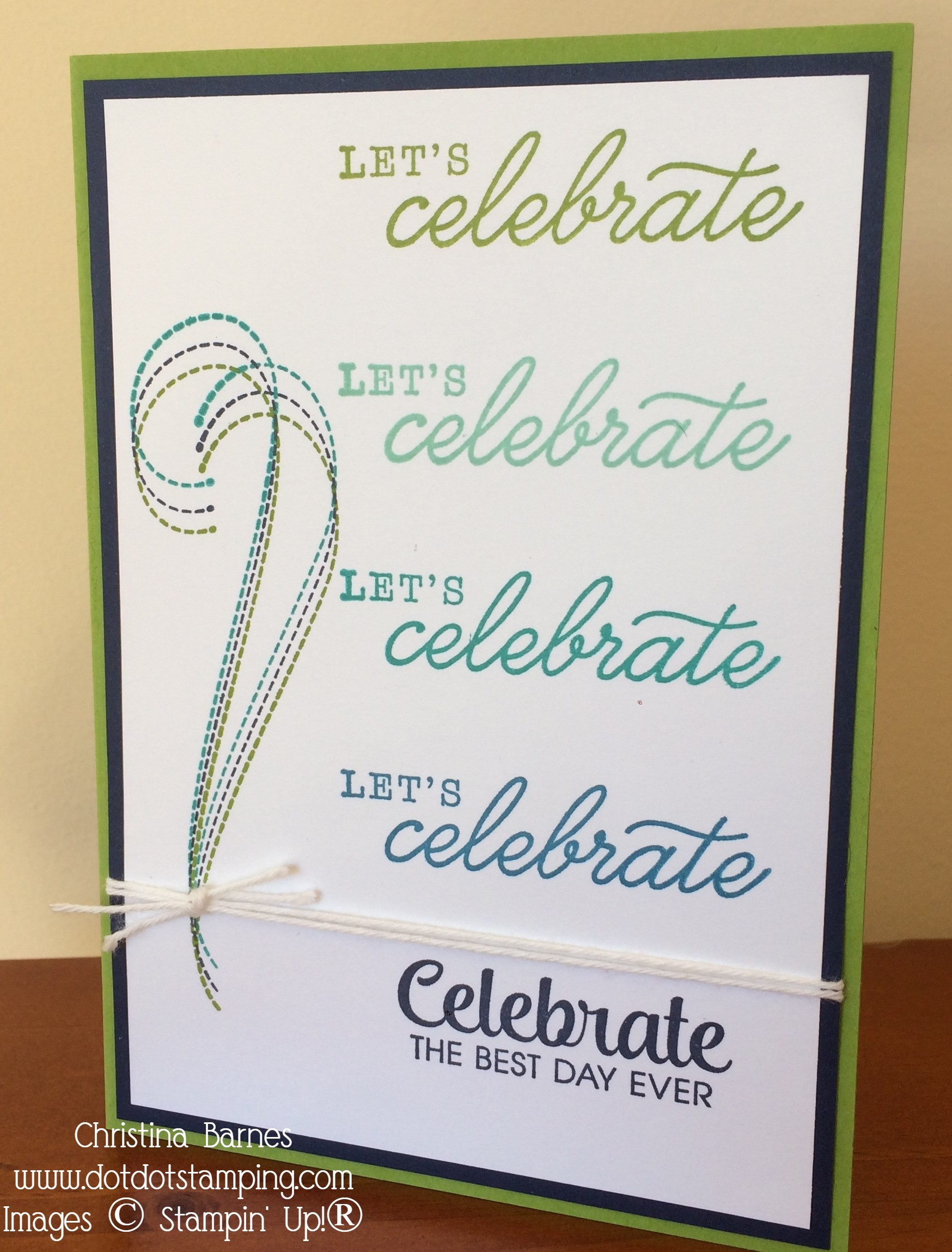Celebrate Card by Christina Barnes Dot Dot Stamping 2019 For The Love of Felt
