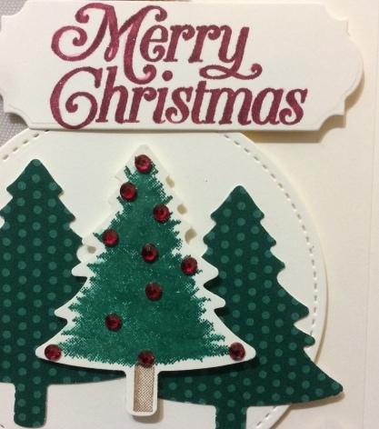 Pine Tree Punch Perfectly Plaid Christmas Trees Christina Barnes Dot Dot Stamping