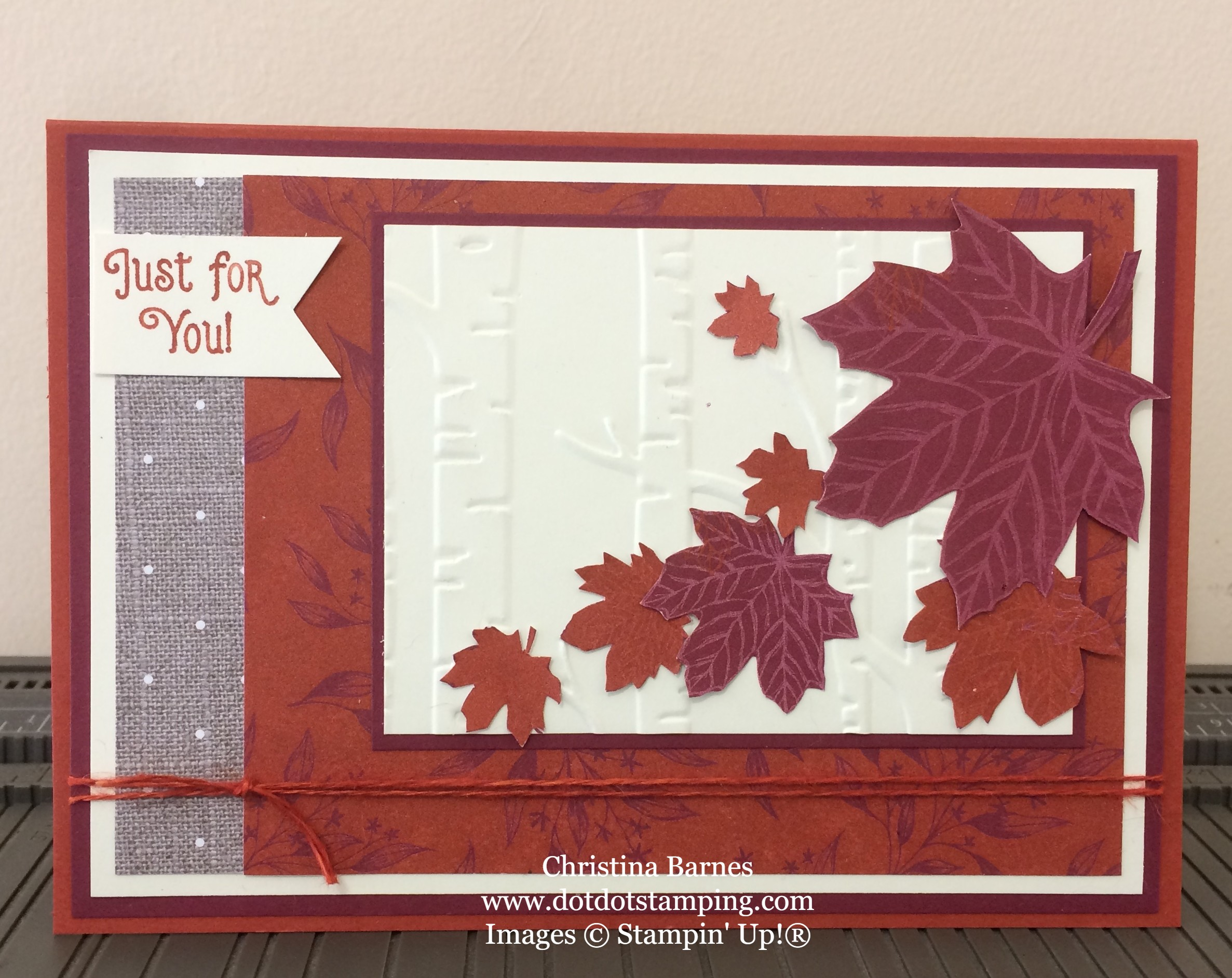 Autumn Card Come To Gather Designer Series Paper 2019 Stampin Up Holiday Catalogue Christina Barnes Dot Dot Stamping