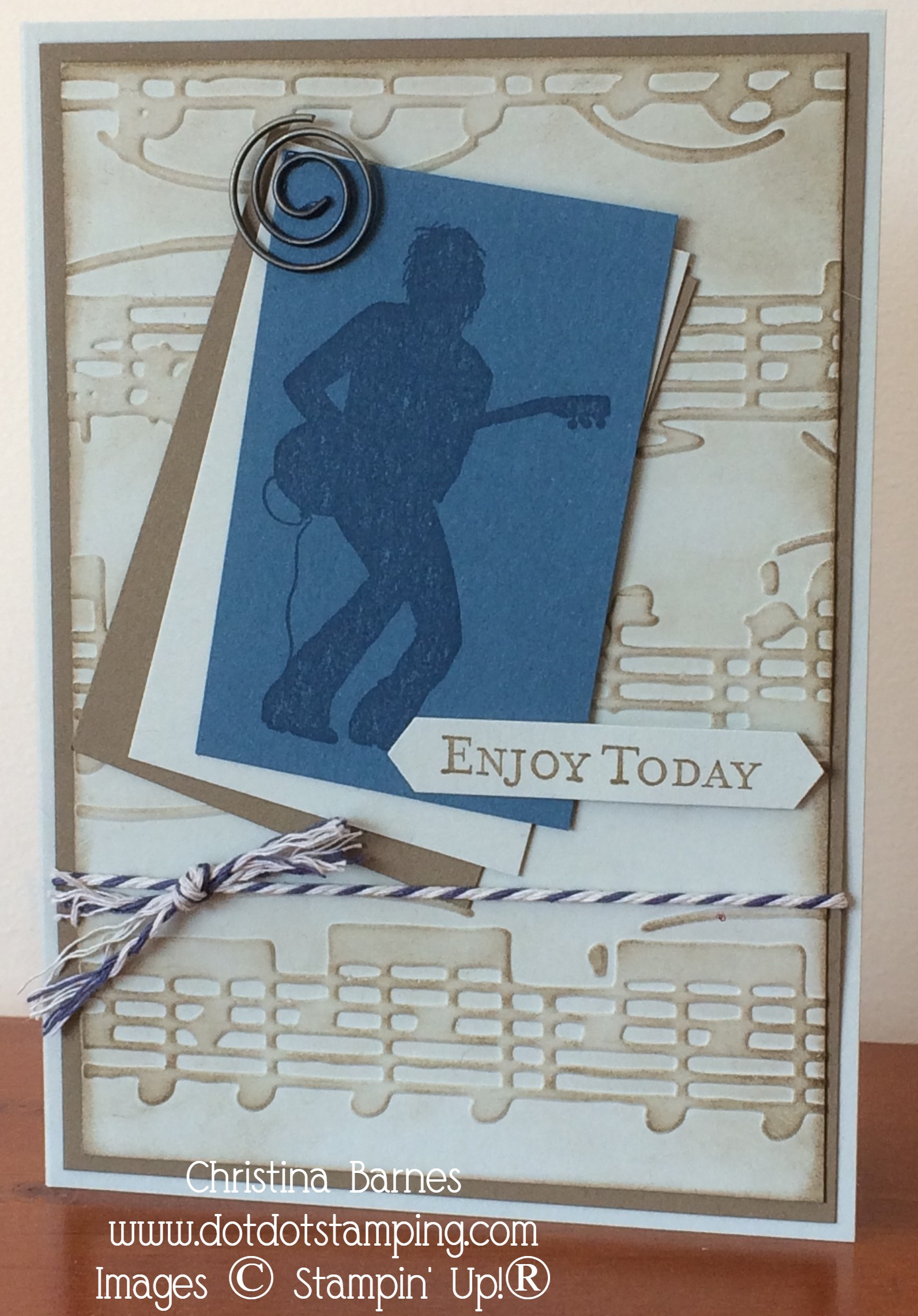 Beetles Inspired Masculine Card Christina Barnes Dot Dot Stamping Music