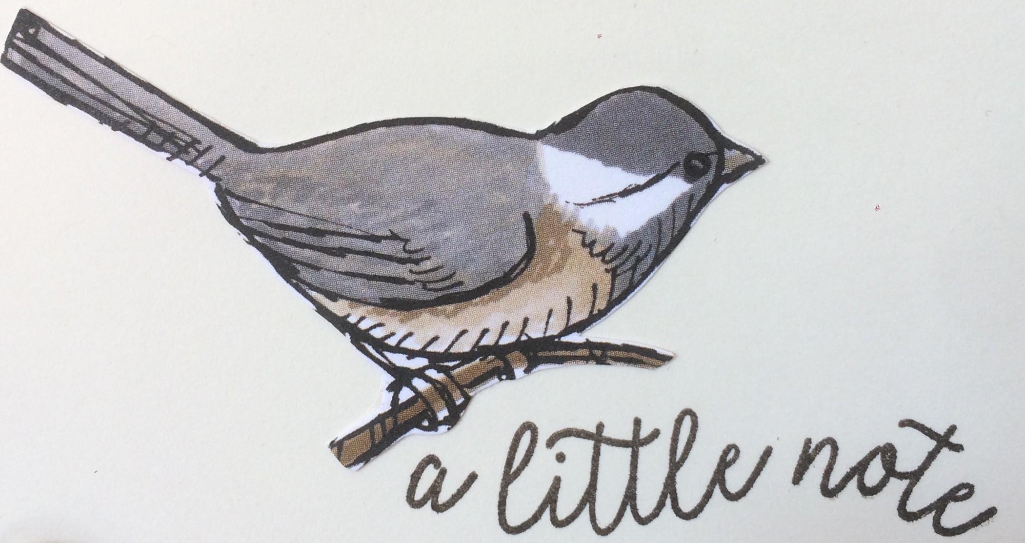Bird Ballad DSP Card by Christina Barnes Dot Dot Stamping