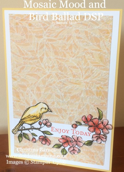 Mosaic Mood Specialty Designer Series Paper and Bird Ballad DSP Card Christina Barnes Dot Dot Stamping Stampin' Up! 2019 Annual Catalogue