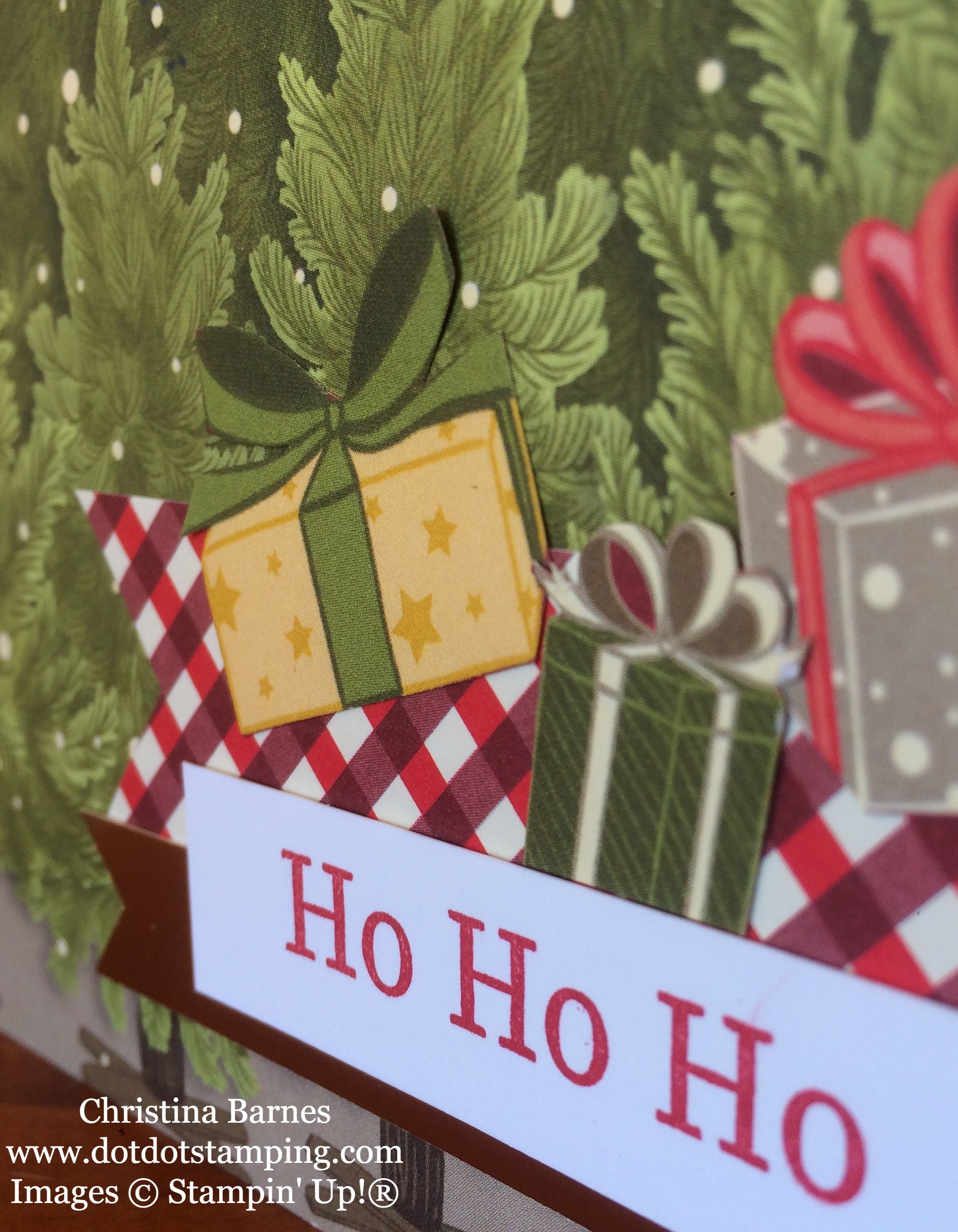 Night Before Christmas Designer Series Paper Card 2 Stampin' up! 2019 Holiday Catalogue Christina Barnes Dot Dot Stamping