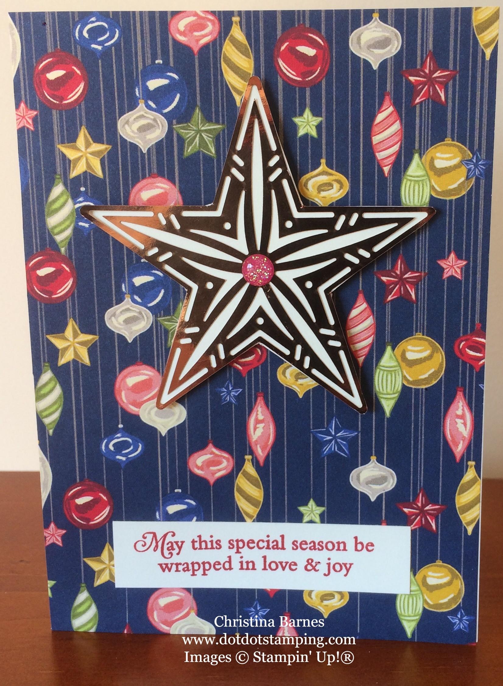 Night Before Christmas Designer Series Paper Card 4 Stampin' Up! 2019 Holiday Catalogue Christina Barnes Dot Dot Stamping