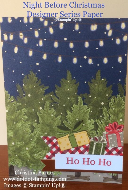 Night Before Christmas Designer Series Paper Card Stampin' Up! 2019 Holiday Catalogue Christina Barnes Dot Dot Stamping