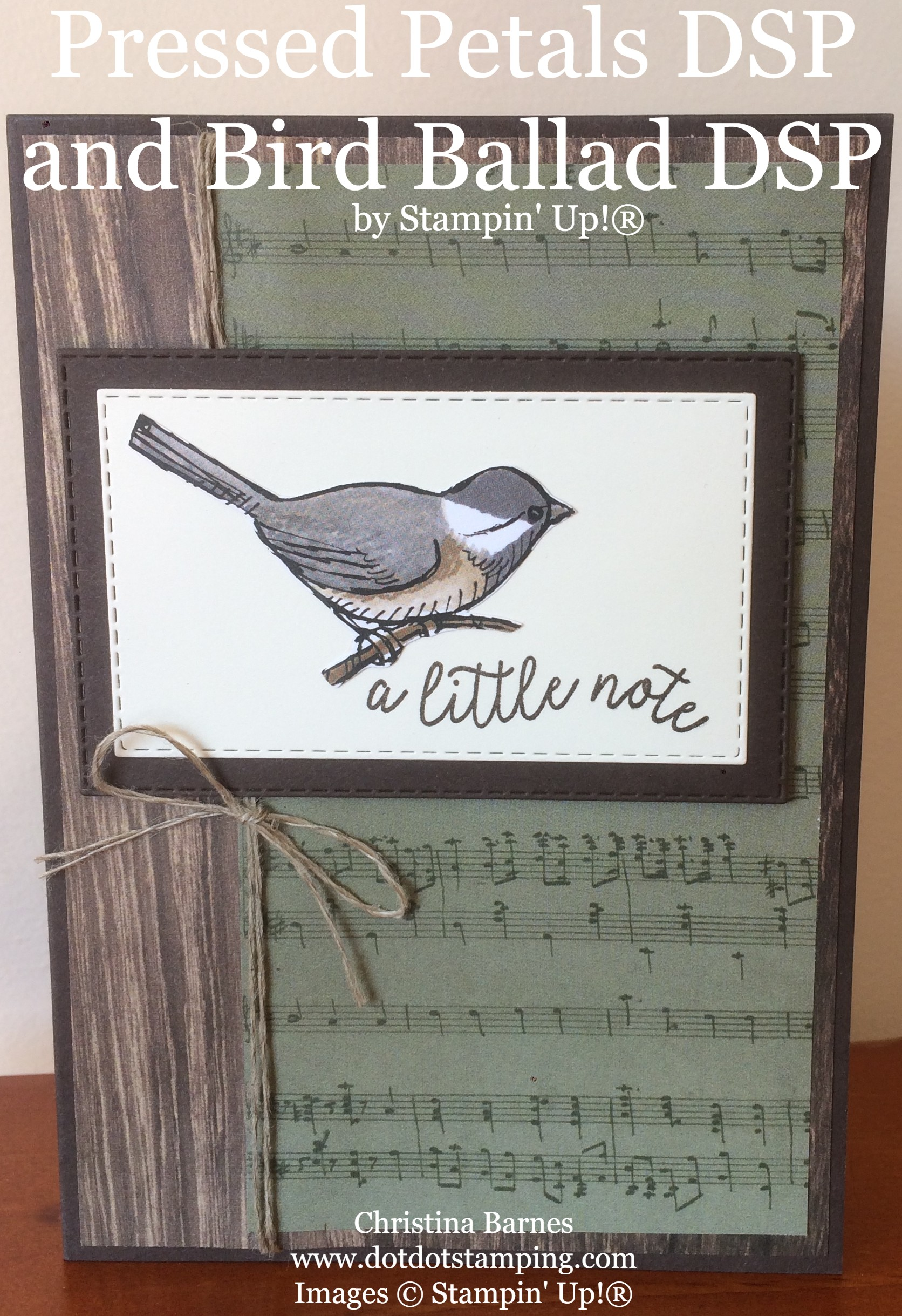Pressed Petals Specialty Designer Series Paper and Bird Ballad DSP Card Stampin' Up! 2019 Annual Catalogue Christina Barnes Dot Dot Stamping