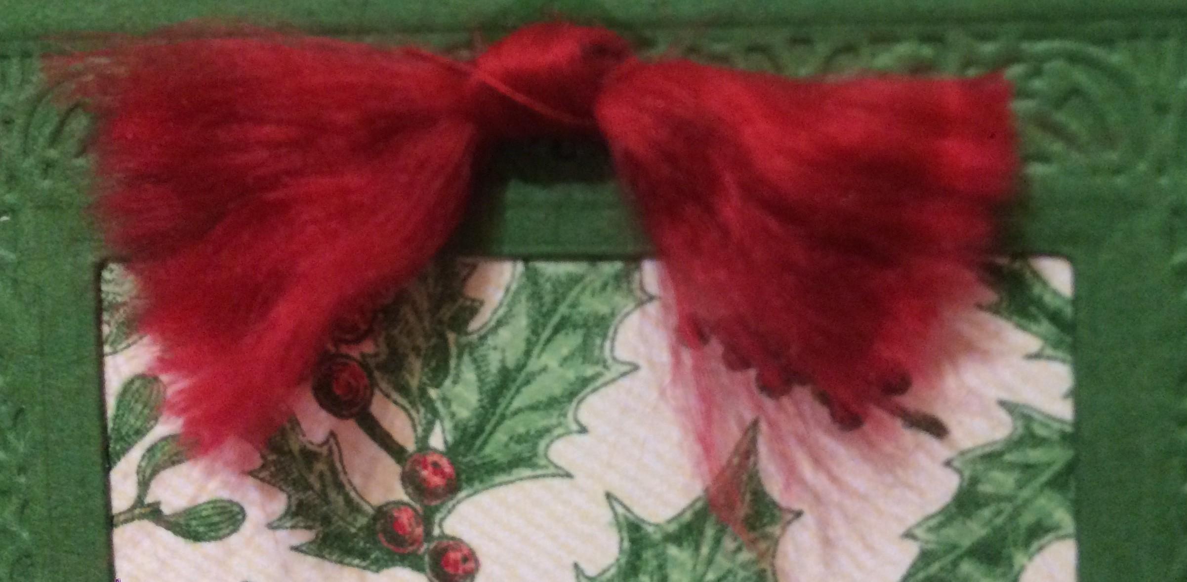 Real Red Curly Ribbon Christmas Card Stampin' Up! 2019 Holiday Catalogue Christina Barnes Dot Dot Stamping