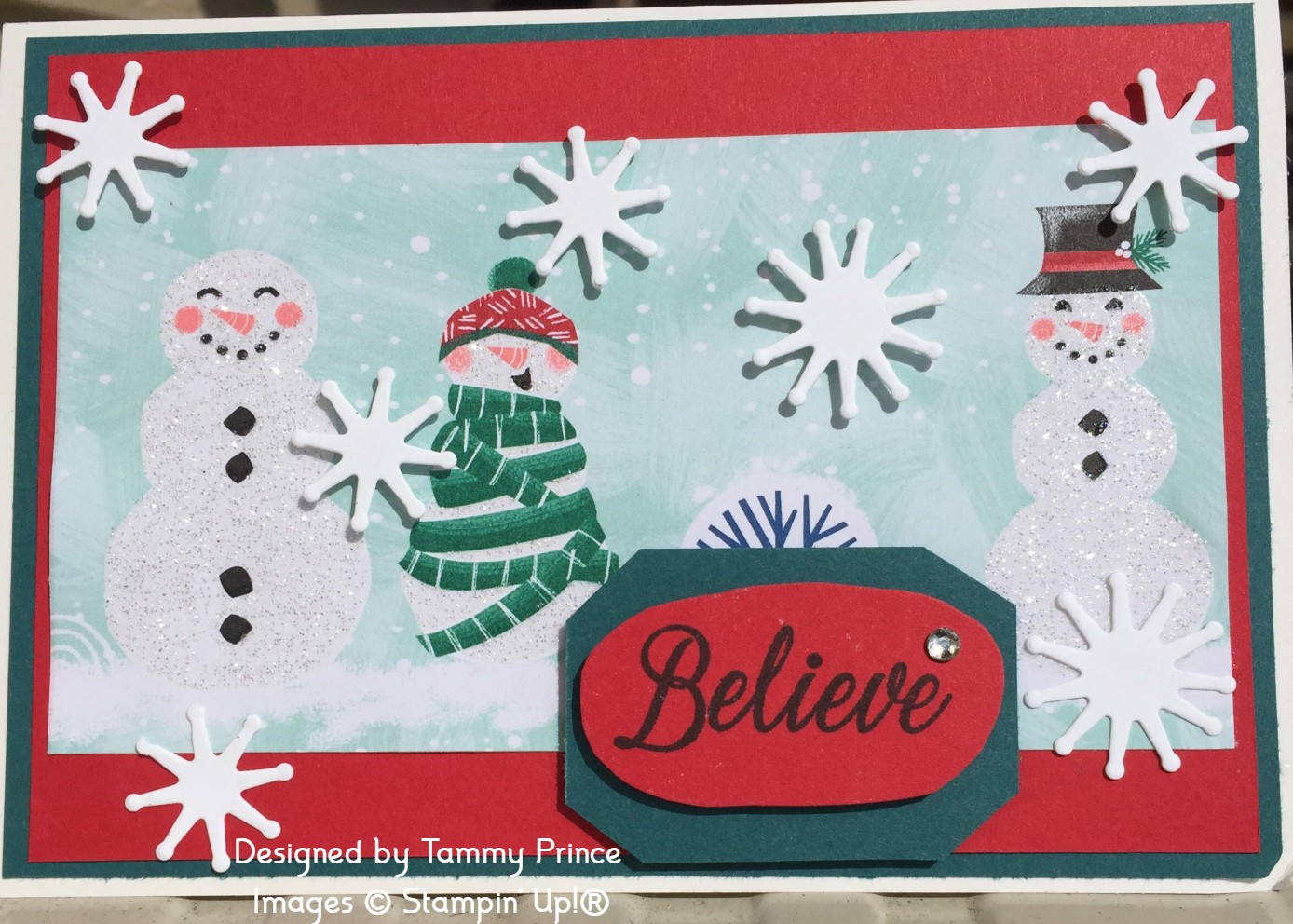 Tammy Prince Christmas Card Let It Snow DSP Stampin' Up!