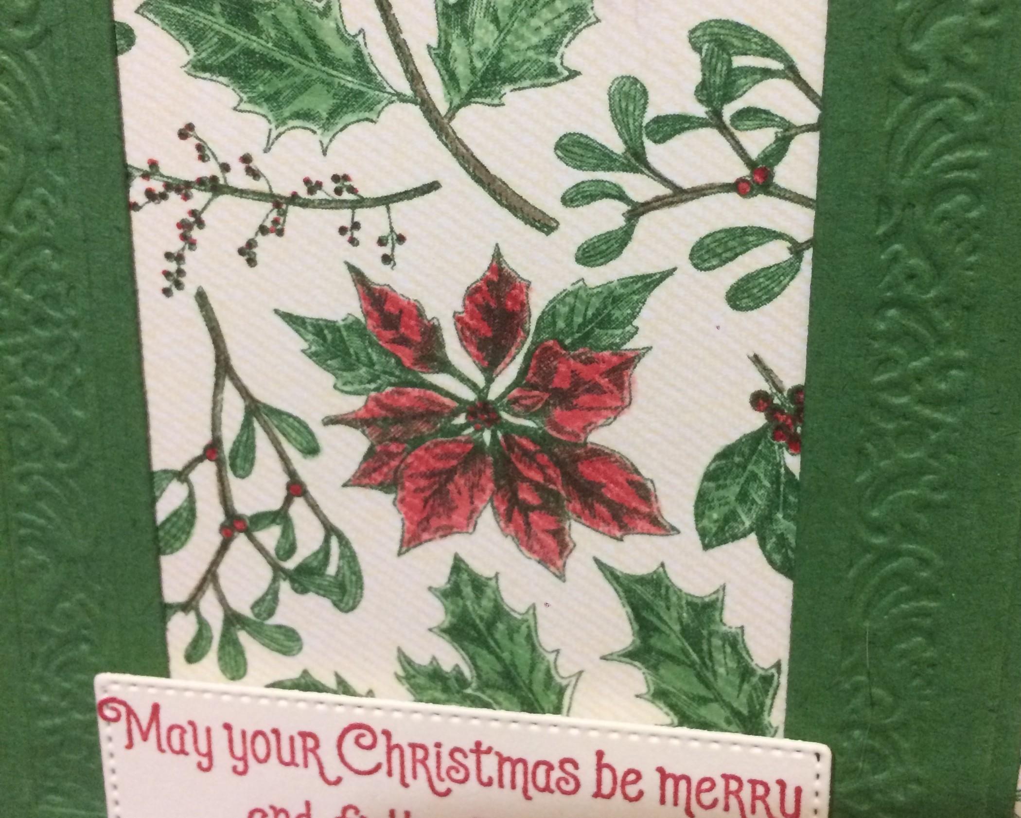 Toile Tidings Christmas Card 2019 Stampin' Up! Holiday Catalogue Christina Barnes Dot Dot Stamping