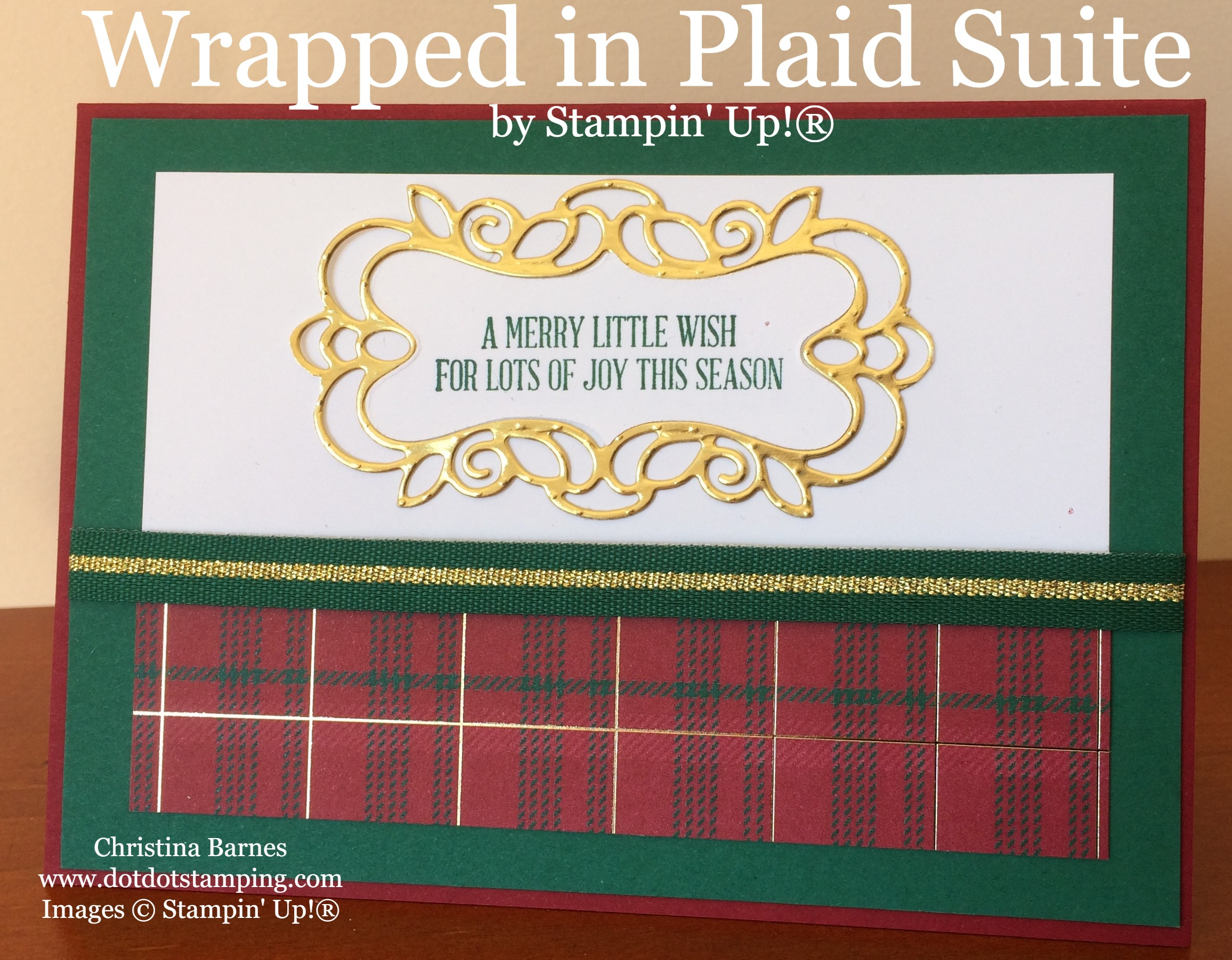 Wrapped in Plaid Suite 2019 Holiday Catalogue Christina Barnes Dot Dot Stamping