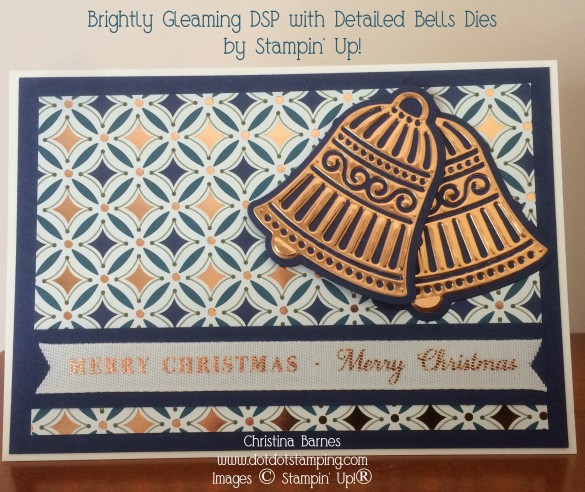 Brightly Gleaming Designer Series Paper DSP Detailed Bells Dies 2019 Stampin' Up! Holiday Catalogue Christina Barnes Dot Dot Stamping (1)