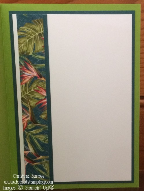 Tropical Oasis Card Inside by Christina Barnes Stampin' Up! Dot Dot Stamping