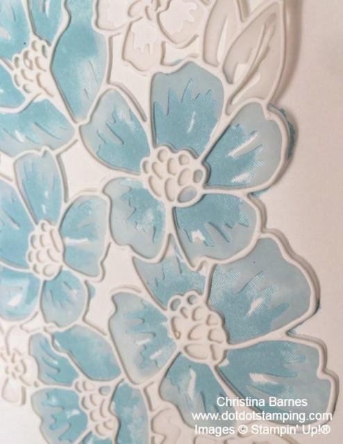 Balmy Blue Flowers Christina Barnes Dot Dot Stamping
