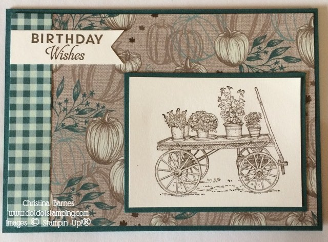 In The Garden Masculine Card French Countryside Stampin' Up! 2020 Christina Barnes Dot Dot Stamping