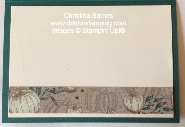 In the Garden Masculine Card Inside French Countryside Stampin' Up! 2020 Christina Barnes Dot Dot Stamping