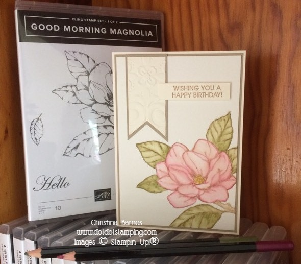 Watercoloured Magnolia Good Morning Magnolia Pencils Stampin' Up! 2020 Christina Barnes