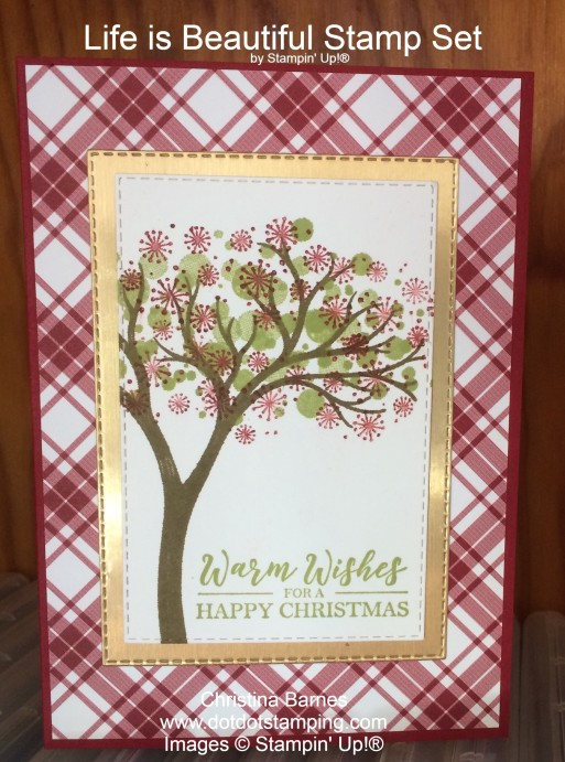 Life Is Beautiful Christmas Card Stampin' Up! 2020 Christina Barnes Dot Dot Stamping