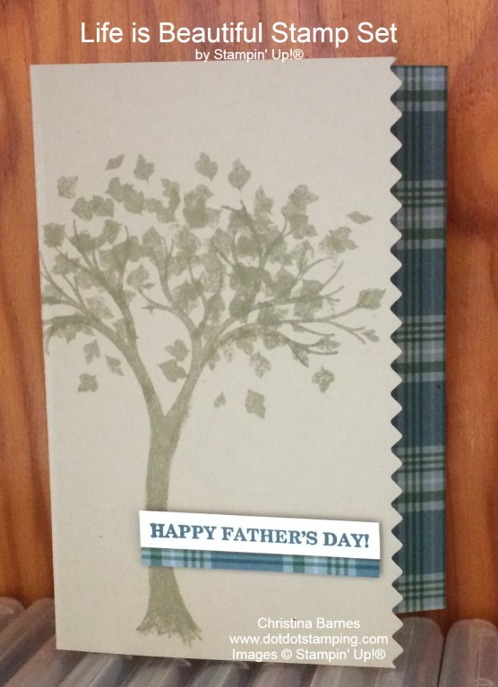 Life is Beautiful Father's Day Card 2020 Stampin' Up! Christina Barnes Dot Dot Stamping